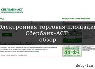 Обзор функционала электронной торговой площадки Сбербанк-АСТ