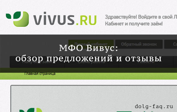 Обзор предложений МФО Вивус