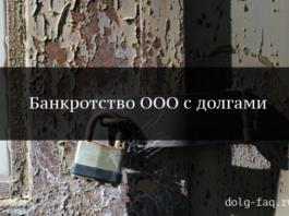 Банкротство ООО с долгами