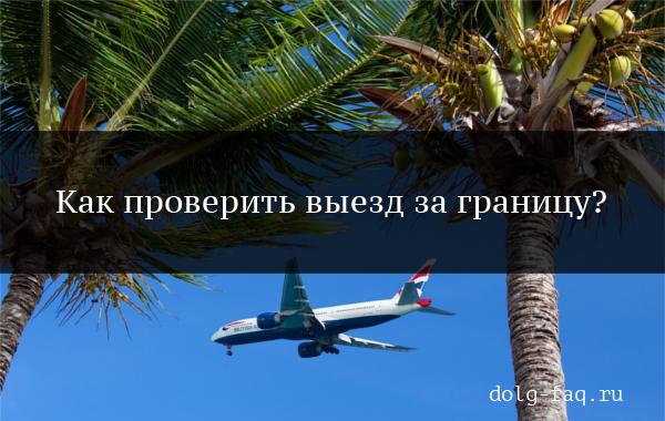Проверить выезд за границу