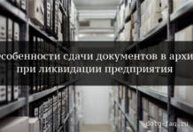 Сдача в архив документов при ликвидации предприятия