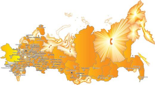 География присутствия Национальной службы взыскания в РФ