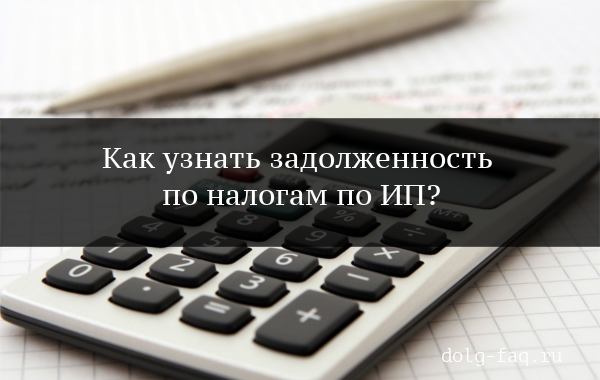 Узнать задолженность по налогам по ИП