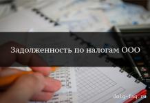 Задолженность по налогам по ООО